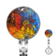 Space Pollen Stainless Steel Nurses Watches by timelessartoncanvas