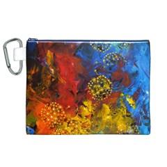 Space Pollen Canvas Cosmetic Bag (xl)  by timelessartoncanvas