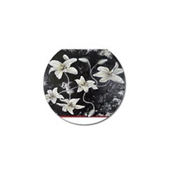 Black And White Lilies Golf Ball Marker (10 Pack) by timelessartoncanvas