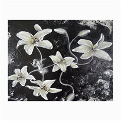 Black And White Lilies Collage 12  X 18  by timelessartoncanvas