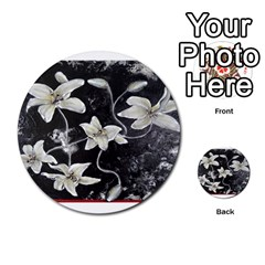 Black And White Lilies Multi Purpose Cards (round)