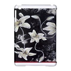 Black And White Lilies Apple Ipad Mini Hardshell Case (compatible With Smart Cover) by timelessartoncanvas