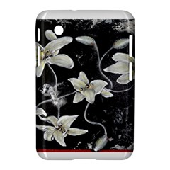 Black and White Lilies Samsung Galaxy Tab 2 (7 ) P3100 Hardshell Case  by timelessartoncanvas