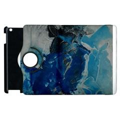 Blue Abstract Apple Ipad 2 Flip 360 Case by timelessartoncanvas