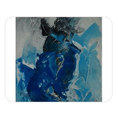 Blue Abstract Double Sided Flano Blanket (large)  by timelessartoncanvas