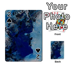 Blue Abstract No 2 Playing Cards 54 Designs  by timelessartoncanvas