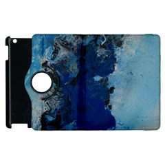 Blue Abstract No 2 Apple Ipad 2 Flip 360 Case by timelessartoncanvas