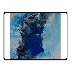 Blue Abstract No 2 Double Sided Fleece Blanket (small)