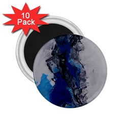 Blue Abstract No.3 2.25  Magnets (10 pack)  by timelessartoncanvas
