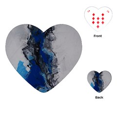 Blue Abstract No 3 Playing Cards (heart)  by timelessartoncanvas