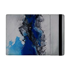 Blue Abstract No 3 Apple Ipad Mini Flip Case by timelessartoncanvas