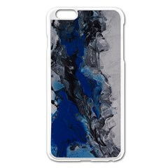 Blue Abstract No.3 Apple iPhone 6 Plus Enamel White Case by timelessartoncanvas