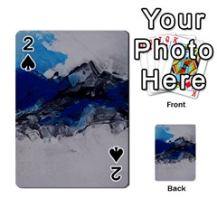 Blue Abstract No 4 Playing Cards 54 Designs  by timelessartoncanvas