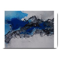 Blue Abstract No 4 Large Doormat  by timelessartoncanvas