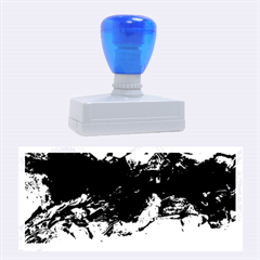 Blue Abstract No.4 Rubber Stamps (Large) by timelessartoncanvas