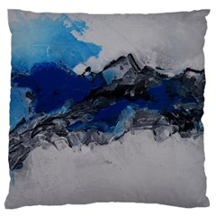Blue Abstract No 4 Standard Flano Cushion Cases (one Side)  by timelessartoncanvas