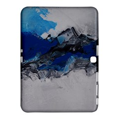 Blue Abstract No 4 Samsung Galaxy Tab 4 (10 1 ) Hardshell Case  by timelessartoncanvas