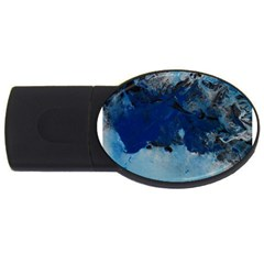 Blue Abstract No 5 Usb Flash Drive Oval (2 Gb)  by timelessartoncanvas