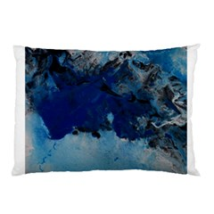 Blue Abstract No 5 Pillow Cases by timelessartoncanvas