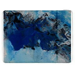 Blue Abstract No 5 Samsung Galaxy Tab 7  P1000 Flip Case by timelessartoncanvas