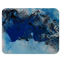 Blue Abstract No 5 Double Sided Flano Blanket (medium)  by timelessartoncanvas