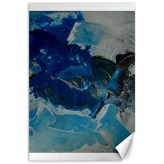 Blue Abstract No  6 Canvas 24  X 36  by timelessartoncanvas
