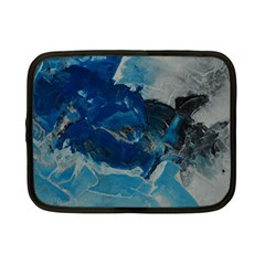 Blue Abstract No  6 Netbook Case (small)  by timelessartoncanvas