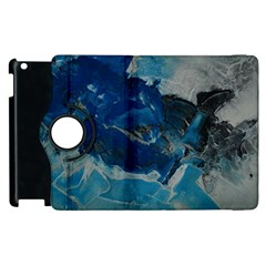 Blue Abstract No  6 Apple Ipad 2 Flip 360 Case by timelessartoncanvas