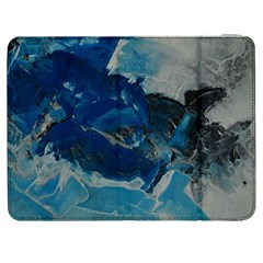 Blue Abstract No  6 Samsung Galaxy Tab 7  P1000 Flip Case by timelessartoncanvas