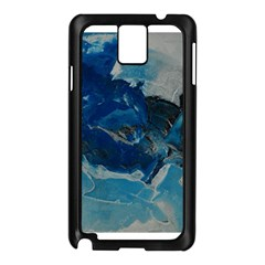 Blue Abstract No  6 Samsung Galaxy Note 3 N9005 Case (black)