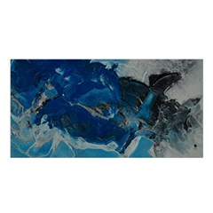 Blue Abstract No  6 Satin Shawl by timelessartoncanvas