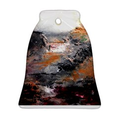 Natural Abstract Landscape Ornament (bell)  by timelessartoncanvas