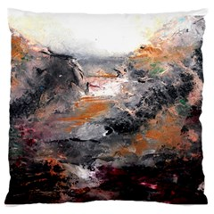 Natural Abstract Landscape Large Flano Cushion Cases (two Sides)  by timelessartoncanvas