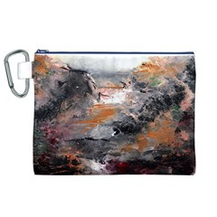 Natural Abstract Landscape Canvas Cosmetic Bag (xl)  by timelessartoncanvas