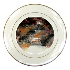 Natural Abstract Landscape No  2 Porcelain Plates by timelessartoncanvas