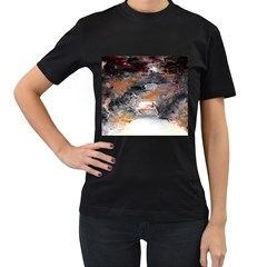 Natural Abstract Landscape No  2 Women s T Shirt (black) by timelessartoncanvas