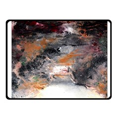 Natural Abstract Landscape No  2 Fleece Blanket (small) by timelessartoncanvas