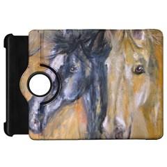 2 Horses Kindle Fire HD Flip 360 Case by timelessartoncanvas