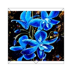 Bright Blue Abstract Flowers Acrylic Tangram Puzzle (6  X 6 ) by timelessartoncanvas