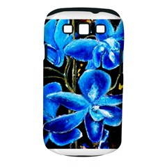 Bright Blue Abstract Flowers Samsung Galaxy S Iii Classic Hardshell Case (pc+silicone) by timelessartoncanvas