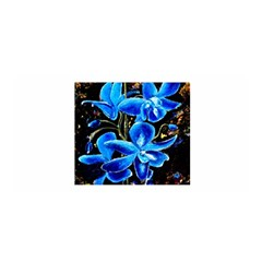 Bright Blue Abstract Flowers Satin Wrap by timelessartoncanvas