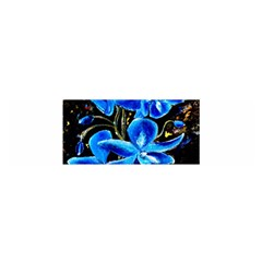 Bright Blue Abstract Flowers Satin Scarf (oblong) by timelessartoncanvas
