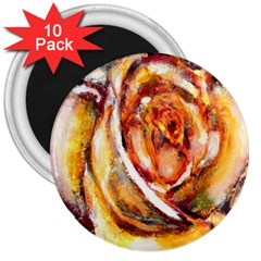 Abstract Rose 3  Magnets (10 pack)  by timelessartoncanvas