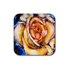 Abstract Rose Rubber Square Coaster (4 Pack)  by timelessartoncanvas