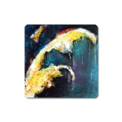 Abstract Space Nebula Square Magnet by timelessartoncanvas
