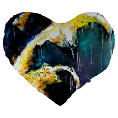 Abstract Space Nebula Large 19  Premium Heart Shape Cushions by timelessartoncanvas