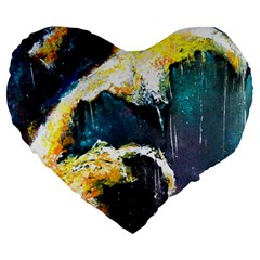 Abstract Space Nebula Large 19  Premium Flano Heart Shape Cushions by timelessartoncanvas