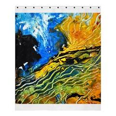 Landlines Shower Curtain 60  X 72  (medium)  by timelessartoncanvas
