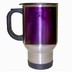 Purple Flower Pedal Travel Mug (Silver Gray) by timelessartoncanvas