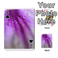 Purple Flower Pedal Playing Cards 54 Designs  by timelessartoncanvas